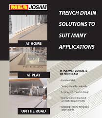 Josam Pvc Floor Drains by Mea Josam Trench Drain Manufacturer Info Page Pro Plus 100 200