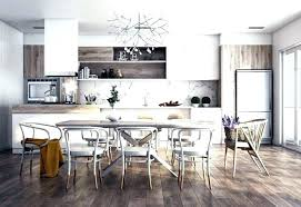 Dark Grey Accent Wall Dining Room Gray Table At Pendant Red Seat A Interior Living