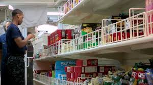 100 Aircraft Carrier Interior Grocery Shopping On USS George HW Bushs Ship Store
