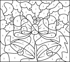 Really Hard Color By Number Coloring Pages With Key Free Library Numbers Page Bells Printable Har