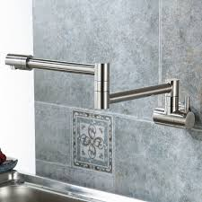 Wall Mounted Kitchen Faucet Single Handle by Eyekepper Wall Mounted Pot Filler Kitchen Faucet With Double Joint