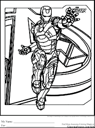 Avengers Iron Man Coloring Pages Book Colouring Adults Pdf Marvel