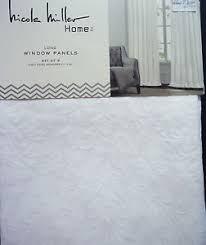nicole miller white trapunto 2 window panels curtains matelasse
