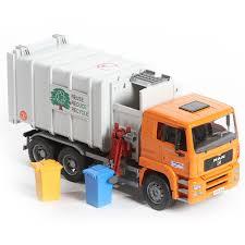100 Bruder Trucks Toys MAN SideLoading Garbage Truck With 2 Refuse Bins