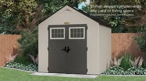 Lifetime Products Gable Storage Shed 7x7 by Features Of The Suncast Tremont Shed Range Youtube