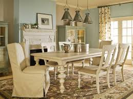Blue And Brown French Country Dining Room Design