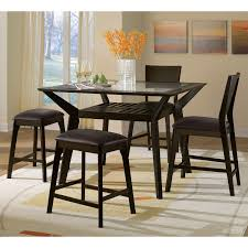 mystic 5 pc counter height dinette w 2 backless stools value