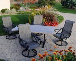 backyard creations boulder creek 5 piece dining patio set at menards