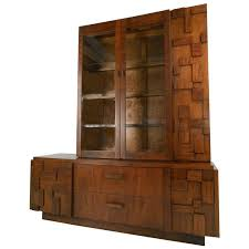 Mid Century Modern Lane Brutalist China Cabinet Server For Sale