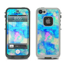 Lifeproof iPhone 5 Case Skin Electrify Ice Blue by Amy Sia