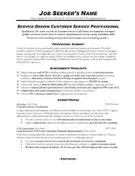 Resume Summary Examples Customer Service Manager Create My Simple Representative Example Professional 1
