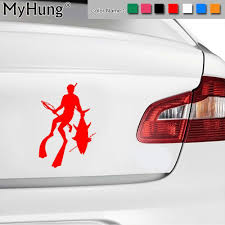 100 Cool Decals For Trucks 119178Cm Vinyl Car Body Stickers Personalized Diving Fishing
