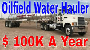100 Oil Trucking Jobs 100k Year Hauling Texas Field Water CDL Truckers Red Viking