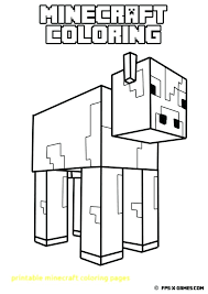 Minecraft Creeper Coloring Sheets Printable Pictures