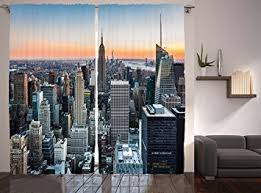 Amazon Modern Curtains World Decor by Ambesonne New York