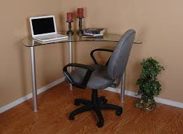 Small Glass And Metal Computer Desk by Amazon Com Tier One Designs Clear Glass Corner Computer Desk