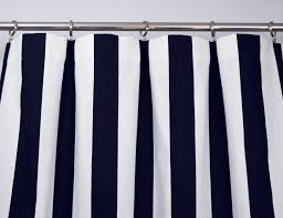 108 Inch Navy Blackout Curtains by Navy Blue White Modern Vertical Stripe Curtains Rod Pocket