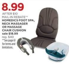 Massage Chair Pad Homedics by Jcpenney Black Friday Homedics Foot Spa Neck Massager Or