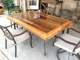Wood Outside Furniture Outdoor Dining Table Appealing