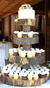 Log Wedding Cake Stand Stylish Rustic Stands Best Shining Pretty Amazing Cupcakes Tree Stump Wooden