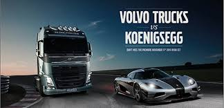 VOLVO TRUCKS CHALLENGES ONE OF THE WORLD'S FASTEST SPORTS CARS - A ...