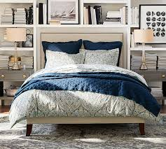 Pottery Barn Master Bedroom by Fillmore Square Upholstered Bed U0026 Headboard Pottery Barn