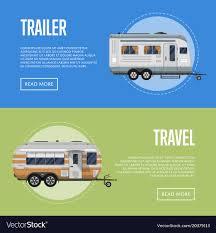 100 Modern Travel Trailer Travel Trailer Flyers Set Royalty Free Vector Image