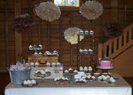 Rustic Wedding Cake And Cup Bar