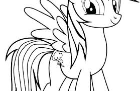 My Little Pony Coloring Pages Applejack And Rainbow Dash Just