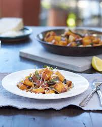 Pumpkin Gnocchi Recipe With Sage Butter by Roasted Pumpkin Gnocchi With Lemon Herb Brown Butter Fast Ed