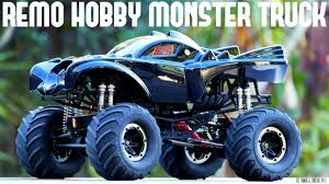 100 Monster Truck Batman REMO HOBBY Jam BATMAN Brushless 110 RC Unboxing First