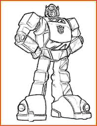 Transformer Coloring PagesFree Bumblebee Page For Kids Picture 2 550x714