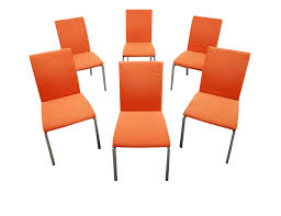 Nearly New Italian Designer Calligaris Dining Chairs Orange Steel ... Saddle Leather Ding Chair Garza Marfa Jupiter White And Orange Plastic Modern Chairs Set Of 2 By Black Metal Cafe Fniture Buy Eiffel Inspired White Orange With Legs Grand Tuscany Total Sizes Wd325xh36 Patio Urban Kitchen Shop Asbury With Chromed Velvet Vivian Of World Market Industrial Design Slat Back Products Flash Indoor Outdoor Table 4 Stack
