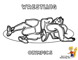 Summer Printable Olympic Wrestling At YesColoring