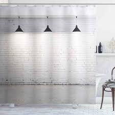 abstrakte dusche vorhang mauerwerk beton zimmer mit 3 decke len moderne minimalistischen design badezimmer dekor set