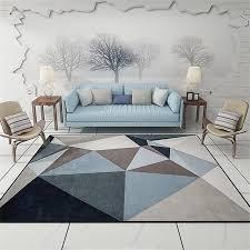 großhandel moderne dreiecke geometrische salon wohnzimmer dekorative teppichboden türmatte pad badezimmer küche bereich teppich grau gardenspirit