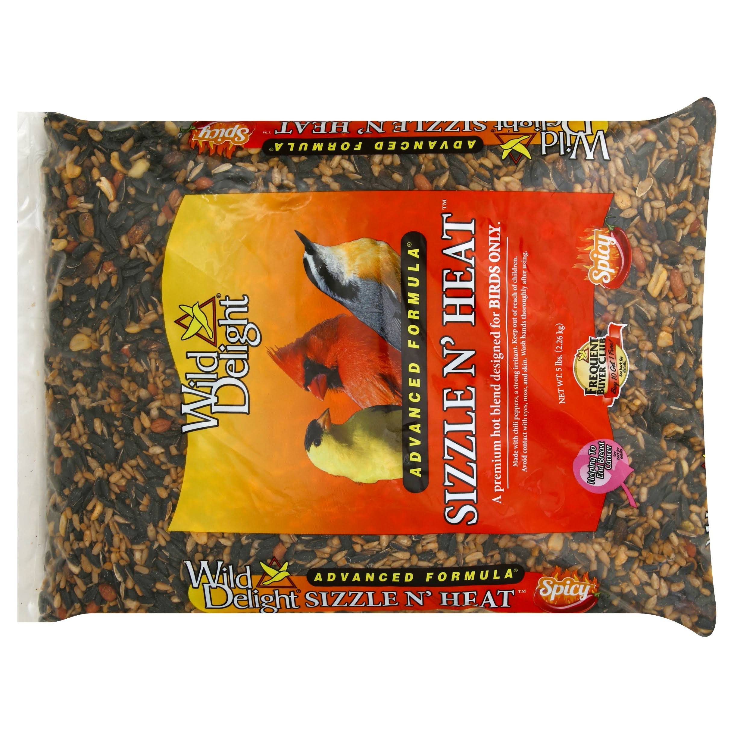 Wild Delight Sizzle N' Heat Bird Food - 5lbs
