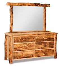 6 Drawer Dresser With Mirror by Bedroom Dutchman Log Furniture