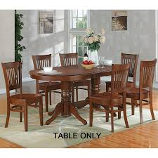 East West Furniture Vancouver Espresso Wood Extending Dining Table