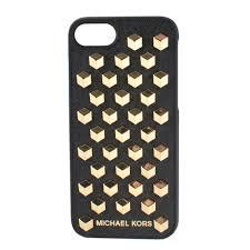 MICHAEL MICHAEL KORS Black Leather Studded iPhone 7 Case