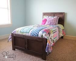 Twin White Bed by Ana White Emme Twin Bed Diy Projects