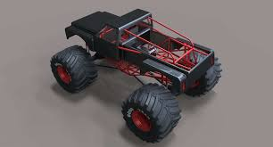 100 Bigfoot Monster Truck Toys Big Toy Car Lovable 3d Model Autostrach