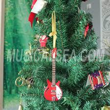 Miniature Electric Guitar Christmas Tree Ornament Musical