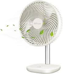 mvpower usb tischventilator 5000 mah wiederaufladbare 26 7cm mini ventilator tragbar leise 4 geschwindigkeiten mit 1 05m kabel für zuhause