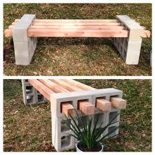 13 Awesome Outdoor Bench Projects Including This Diy Cinder Block And Wood