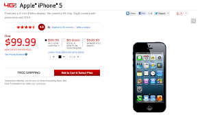 Verizon Drops iPhone 5 Price $100 Now Just $99 99 with 2 Year