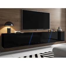 tv unterteil in hochglanz schwarz lack hängend oder stehend
