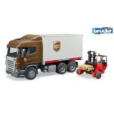 BRUDER Truck Scania UPS With Forklift | Otto Simon B.V.