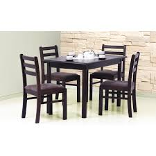Nagano White Oak Dining Table With 4 Chairs