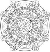 Abstract Mandalas Coloring Pages